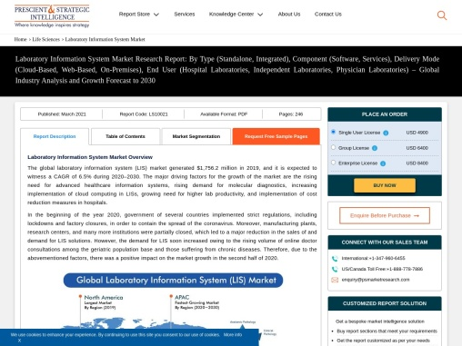 What are Major Factors Driving Growth of Laboratory Information System Market?