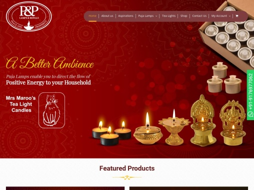 P&P Lamps & Refills   Buy Puja Lamps & Oil Refills @Best Price