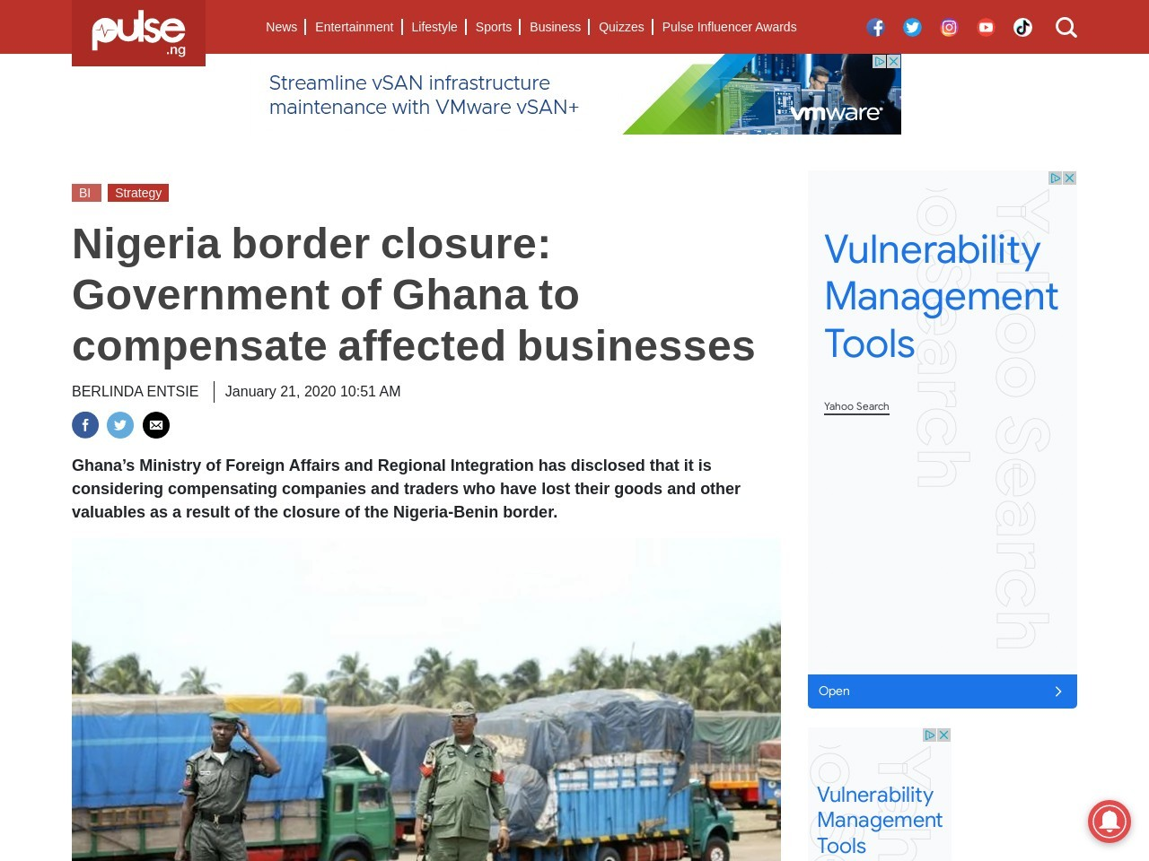 Nigeria border closure: Government of Ghana to compensate affected businesses