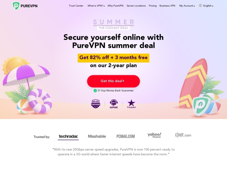 PureVPN Affiliate Program screenshot