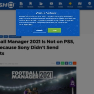 Football Manager 2021 Is Not on PS5, PS4 Because Sony Didn't Send Devkits - Push Square