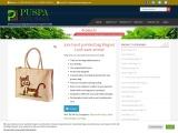 Jute hand painted bag Elegant Look save animal