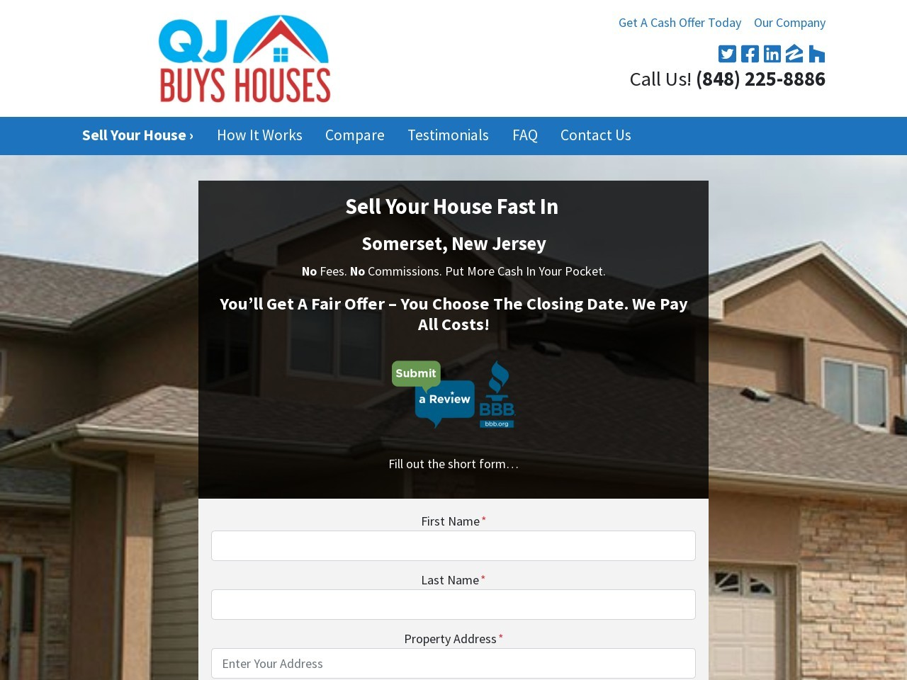Sell My House Fast Bernardsville NJ – QJ Buys Houses