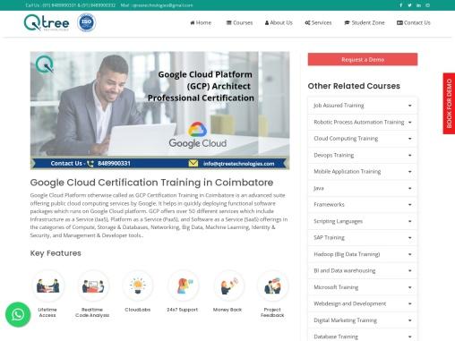 Google Cloud training in Coimbatore | Best Google Cloud Platform Training in Coimbatore
