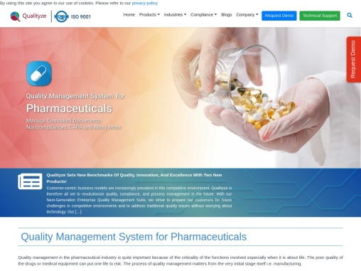 QMS for Pharmaceutical Industry