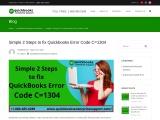 How to fix Quickbooks Error Code C=1304?