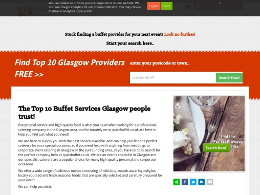 Breakfast and Lunch catering Glasgow
