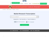 Online Market Research Transcription Services | Quick Transcription Service