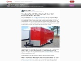 Questions To Ask When Buying A Used 5×8 Enclosed Trailer For Sale