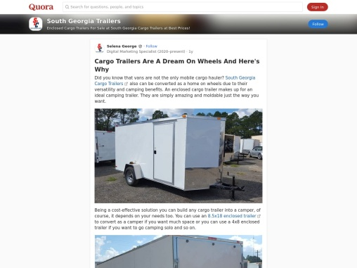 Cargo Trailers Are A Dream On Wheels And Here's Why