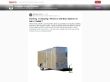 Renting v/s Buying: Which is the Best Option to Get a Trailer?