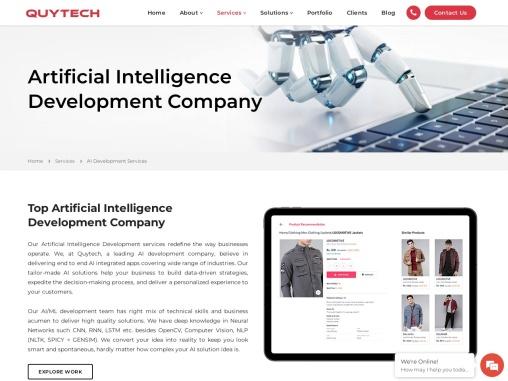 AI Development Company – QUY Technology