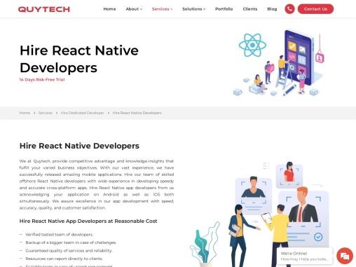 React Native App Development Services | Hire React Native App Developers