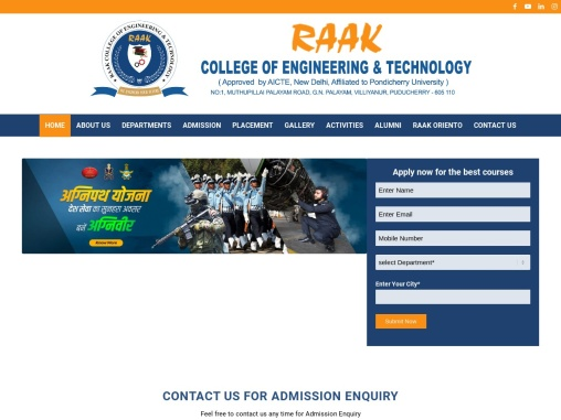 Best Engineering Colleges in Pondicherry | Raak College