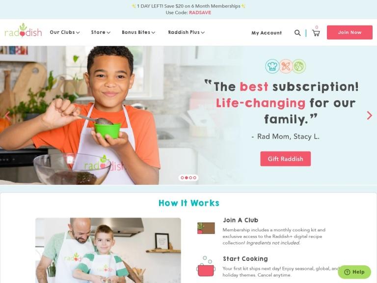 Raddish Kids Monthly Delivery screenshot