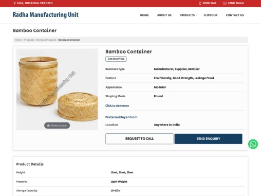 Bamboo Container Manufacturers