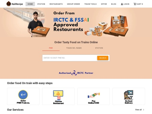 Order Online Food on Train | IRCTC food in Train | RailRecipe