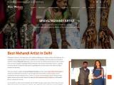 Top Mehandi Artist in Delhi   Bridal Mehandi Artist for Wedding