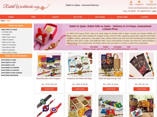 Send Outstanding Gifts & Designer Rakhis Online at a Cheap Price to Qatar