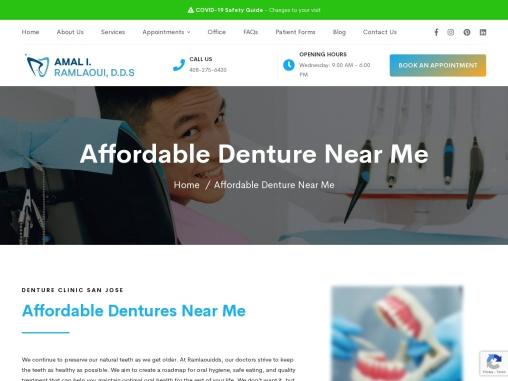 Ramlaoui DDS | Affordable Dentures Near Me-Denture Clinic San Jose