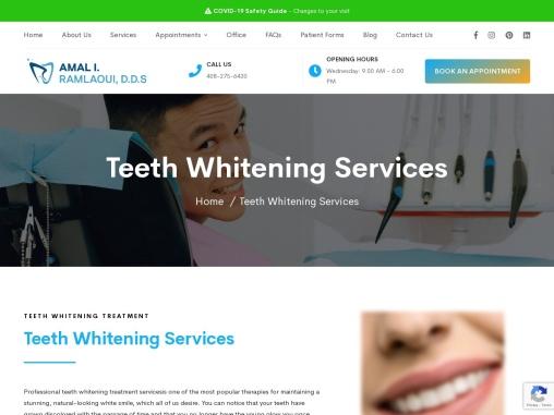 Ramlaoui DDS | Teeth Whitening Treatment-Teeth Whitening Services-San Jose