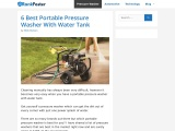 Portable pressure washer with water tank