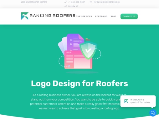 Logo Design for Roofers | Ranking Roofers