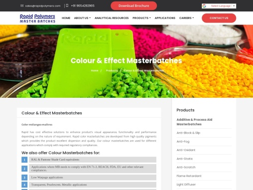 Colour Masterbatches Manufacturer/Supplier in India