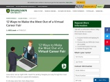 12 Ways to Make the Most out of a Virtual Career Fair