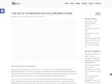 The Keys to Writing an Eye-Opening Poem – Raymond Quattlebaum