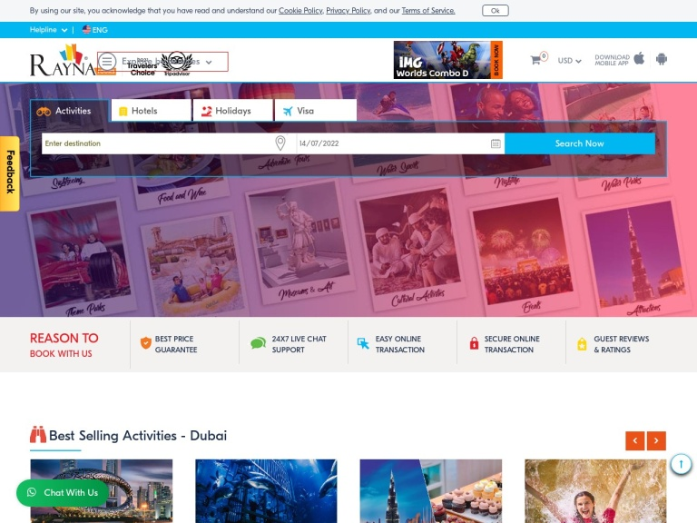 RaynaTours.com screenshot