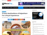 10 best destinations of Rajasthan- For a Royal Experience