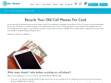 Recycle My Old Cell Phone For Cash with Recell Cellular