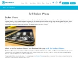 Sell My Broken iPhone Online For Cash