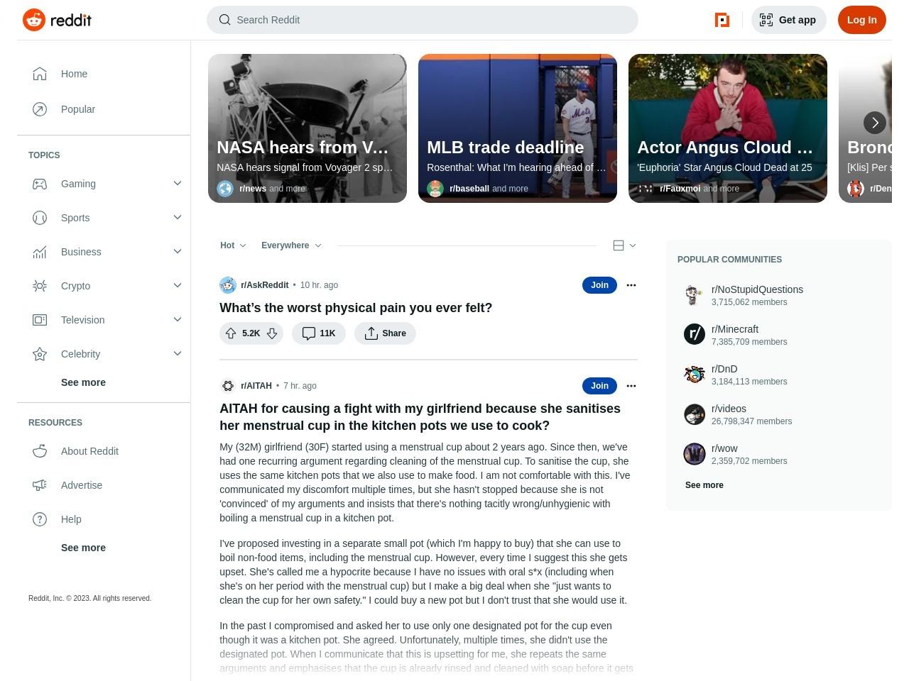 Reddit, Information Technology World