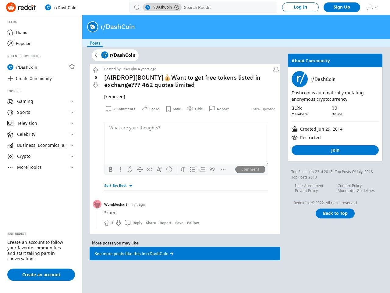 [AIRDROP][BOUNTY]💰Want to get free tokens listed in exchange??? 462 quotas limited