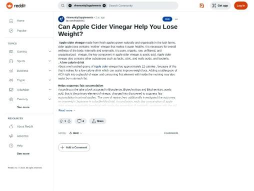 Vinegar Help You Lose Weight is it true?