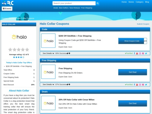 Halo Collar Discount Codes 2021