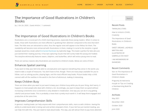 The Importance of Good Illustrations in Children's Books – Gabriella Nagy