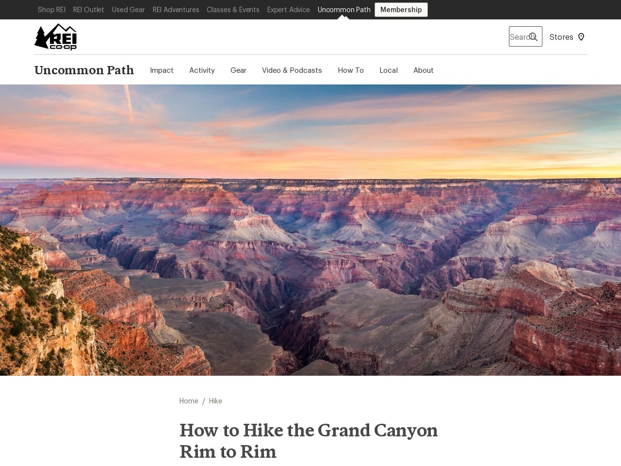 How to Hike the Grand Canyon Rim to Rim | REI Co-op Journal