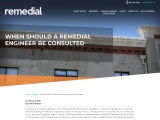 When should a Remedial Engineer be consulted? | Remedial Building Services
