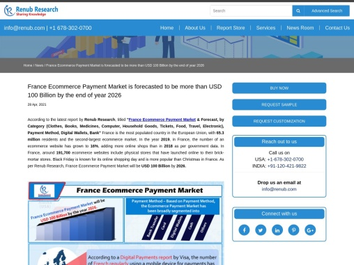 France Ecommerce Payment Market will be USD 100 Billion by 2026