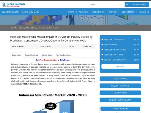 Indonesia Milk Powder Market by Import & Export, Companies, Forecast by 2026