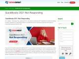 Quickbooks 2021 Not Responding