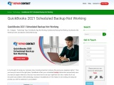 QuickBooks Desktop Download 2021 Scheduled Backup Not Working