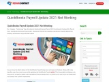 Why Is QuickBooks 2021 Payroll Update Not Working In Online?