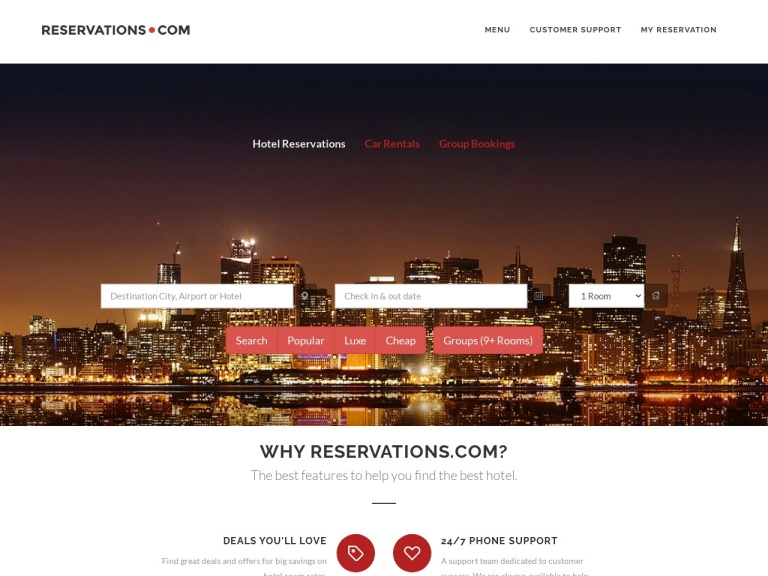 Reservations.com screenshot