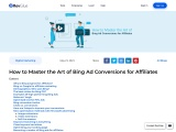 How to Master the Art of Bing Ad Conversions for Affiliates