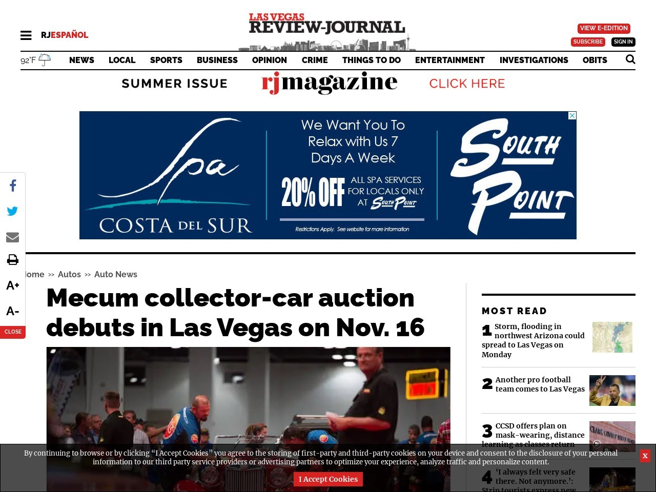 Mecum collector-car auction debuts in Las Vegas on Nov. 16