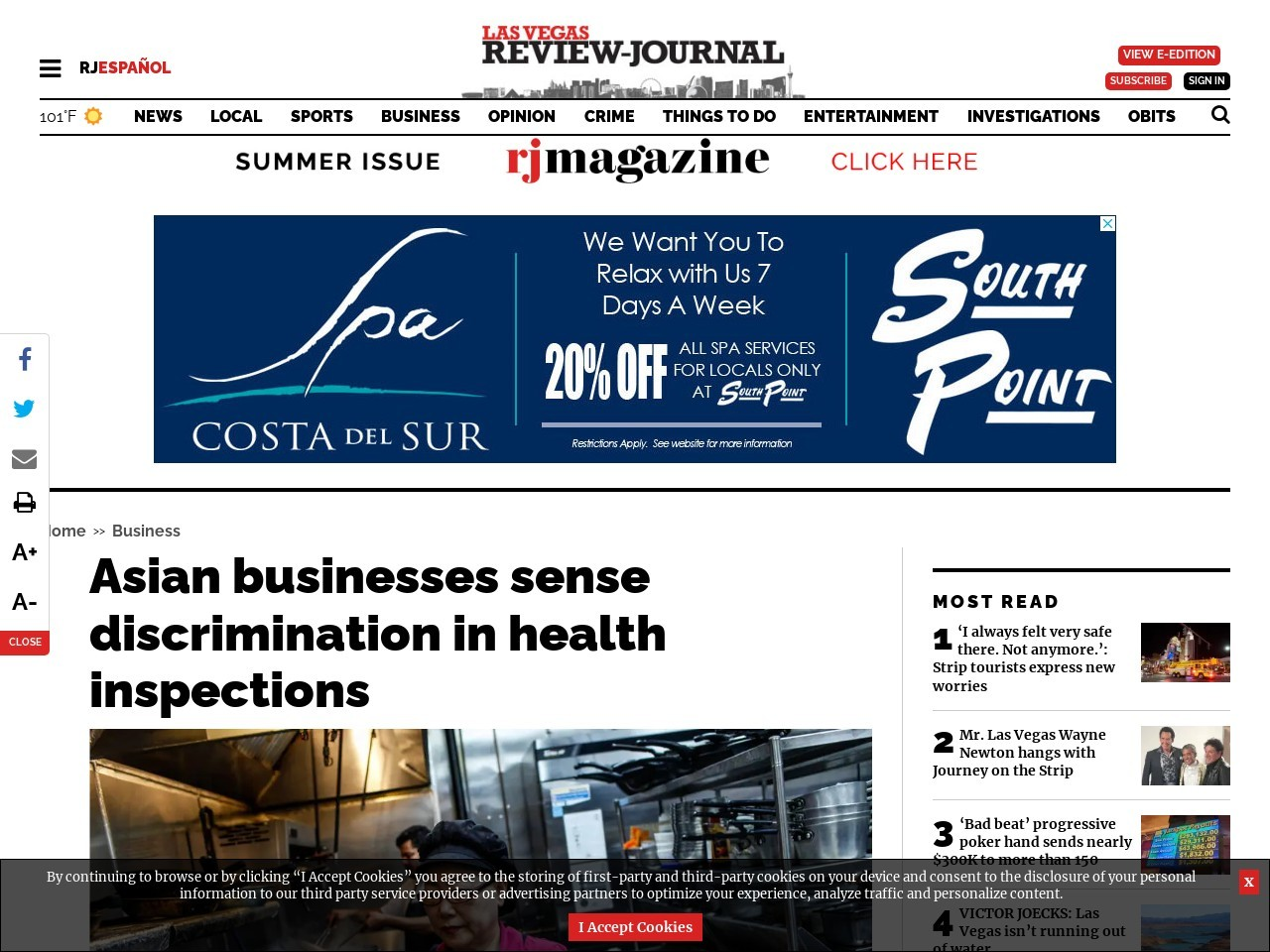 Asian businesses sense discrimination in health inspections